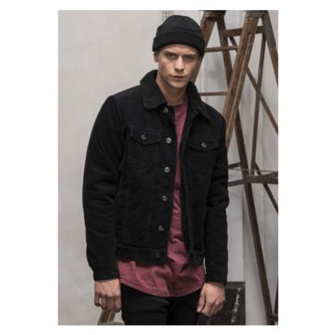Bunda Urban Classics Sherpa Corduroy Jacket black/black
