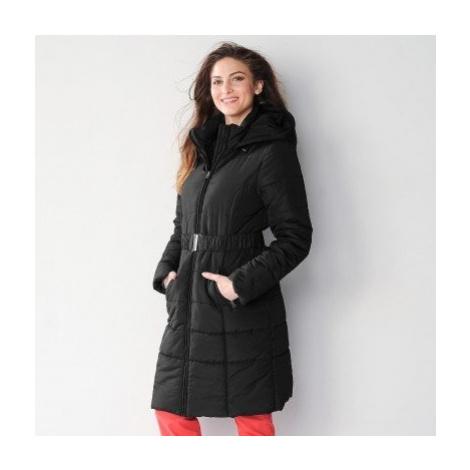 Blancheporte Dlouhá prošívaná bunda s páskem černá