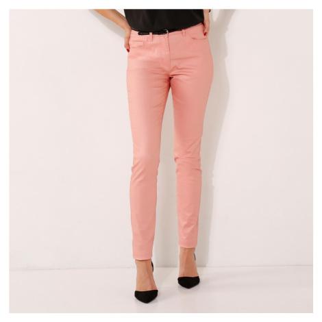 Kalhoty,vn.délka 76cm šedorůžová