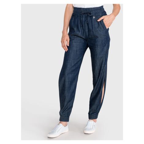 Kalhoty TWINSET Modrá