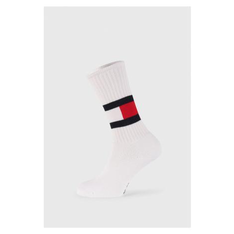 Vysoké bílé ponožky Tommy Hilfiger Flag