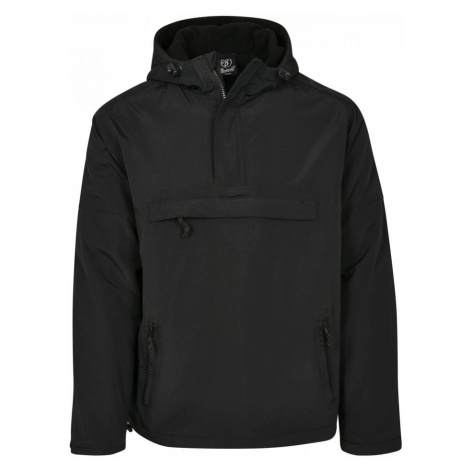 Fleece Pull Over Windbreaker - black Urban Classics
