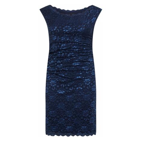 SWING Curve Koktejlové šaty marine modrá / světlemodrá