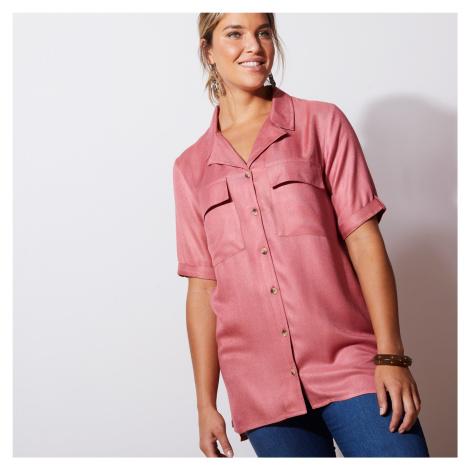 Blancheporte Saharská košile s rukávy k loktům starorůžová