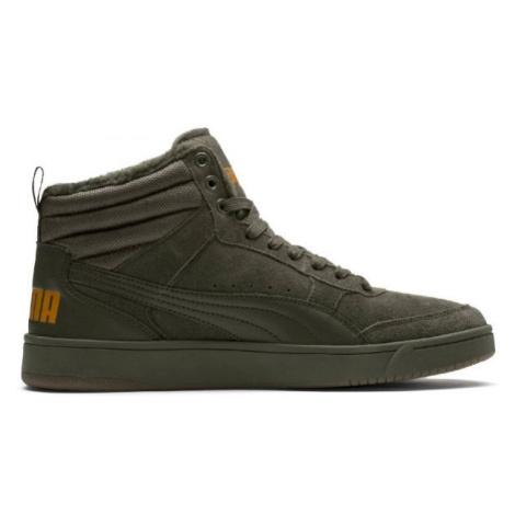 Puma REBOUND STREET V2 SD FUR tmavě zelená - Pánské zimní boty