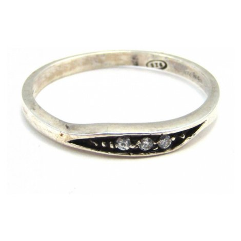 AutorskeSperky.com - Stříbrný prsten se zirkony - S1114