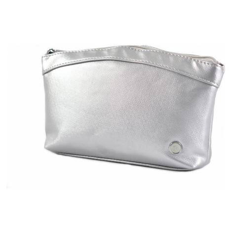 BRIGHT Kosmetická etue Stříbrná, 26 x 5 x 16 (BR18-AA207-25SYN)