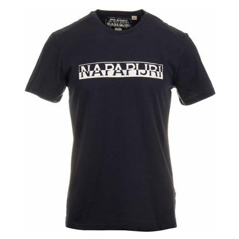 Napapijri pánské tričko modré s bílým potiskem