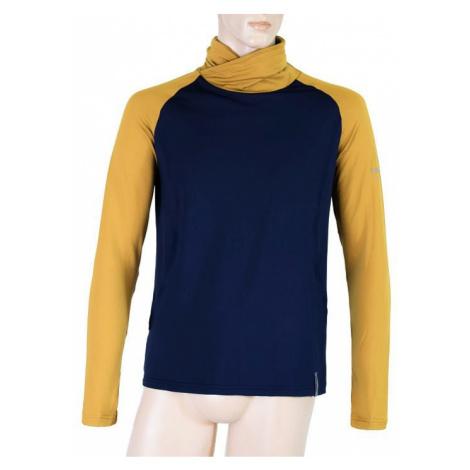 Pánská mikina SENSOR Coolmax Thermo tm. modrá/mustard/černá