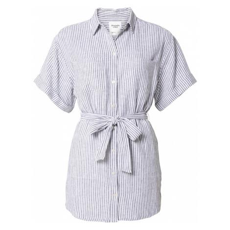 Abercrombie & Fitch Košilové šaty bílá / tmavě modrá