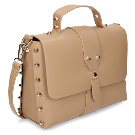 Béžová dámská kabelka s hroty Baťa