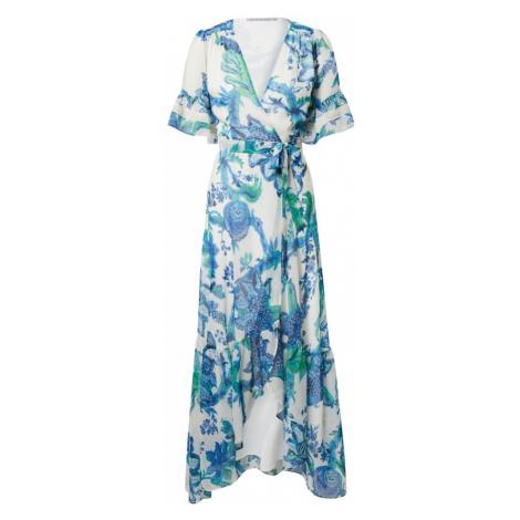 Hope & Ivy Šaty 'THE CATALINA' bílá / královská modrá / nefritová / noční modrá Hope and Ivy