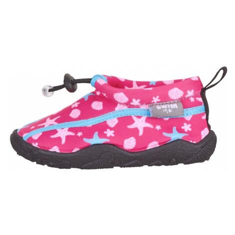 STERNTALER Plážová/koupací obuv světlemodrá / svítivě růžová / světle růžová