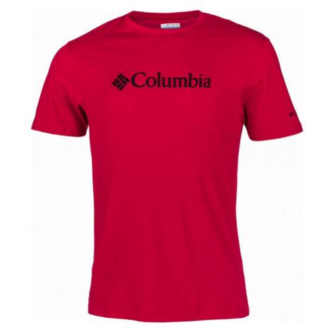 Columbia CSC BASIC LOGO TEE červená - Pánské triko