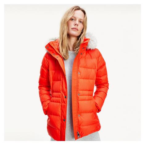 Tommy Hilfiger dámská oranžová bunda Tyra