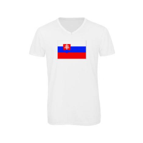 Pánské triko s výstřihem do V Slovensko