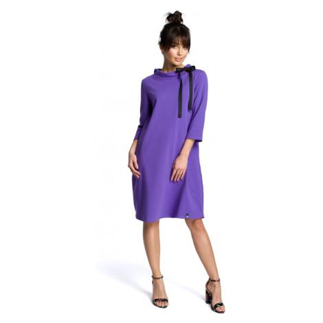 Oversize šaty s vázacím páskem na mašlí BEWEAR B070