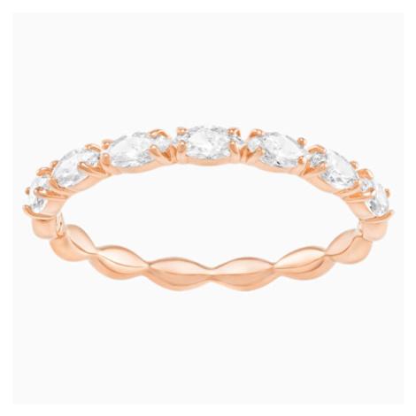 Swarovski Pozlacený třpytivý prsten Vittore