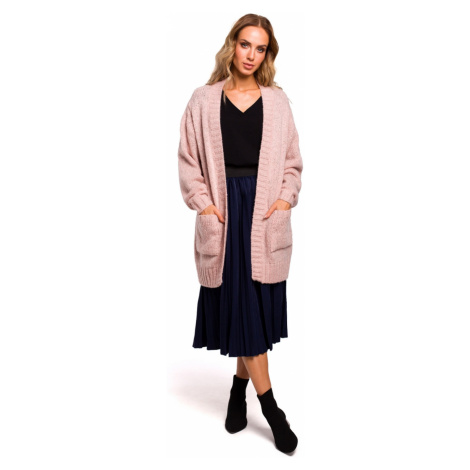 Made Of Emotion Woman's Cardigan M467 Powder
