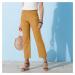 Blancheporte 7/8 kalhoty len/bavlna medová