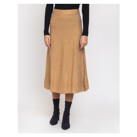 Edited Gaia Knit Skirt Beige/Camel