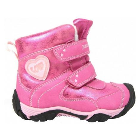 Junior League EIRIL růžová - Dětská zimní obuv