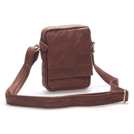 Stylová kožená taška hnědá - Sendi Design Perth