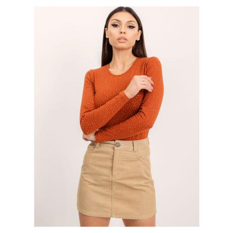 Corduroy skirt beige BSL Fashionhunters