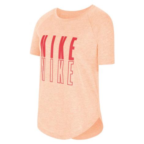Nike SS TROPHY GFX TOP G oranžová - Dívčí tričko