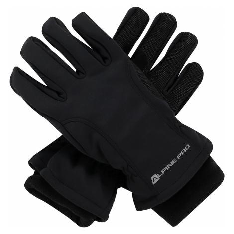 ALPINE PRO KAHUG Unisex lyžařské softshellové rukavice UGLP006990 černá