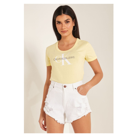 Calvin Klein dámské žluté tričko Baby