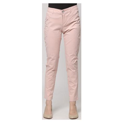 Růžové kalhoty s kamínky Desigual