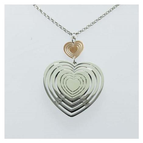 Stříbrný dámský náhrdelník se srdíčkem 340230