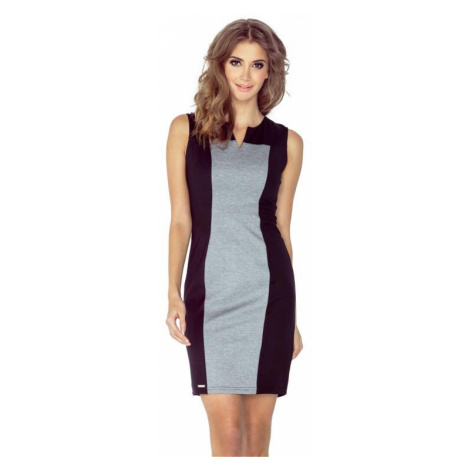 Dámské šaty Morimia 006-3 | černo-šedá