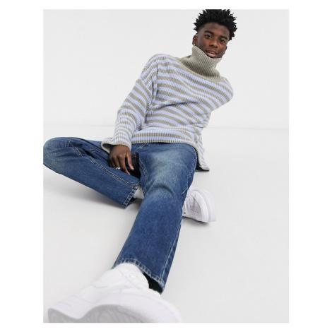 ASOS DESIGN classic rigid jeans in vintage dark wash blue