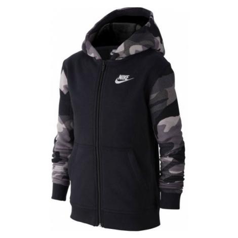 Nike NSW FZ CLUB AOP2 černá - Chlapecká mikina