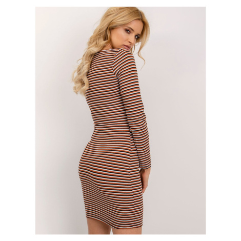 Fitted dress BSL light brown Fashionhunters