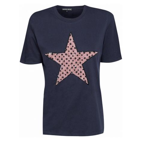 Tričko Markus Lupfer FLOWER SEQUIN STAR tmavomodrá
