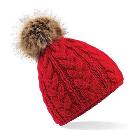 Zimní čepice Beanie - červená Beechfield