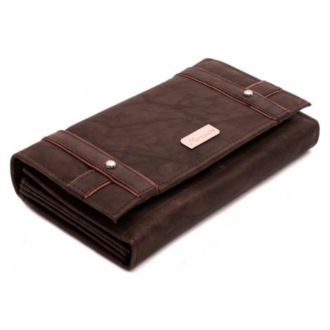 Hnědobéžová kožená dámská peněženka Jordana