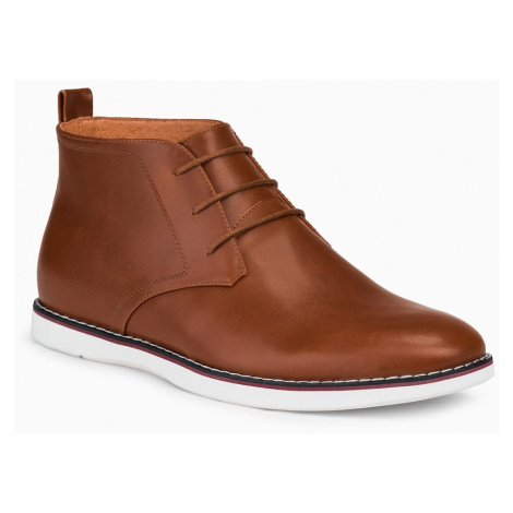 Ombre Clothing Men's natural leather shoes T318
