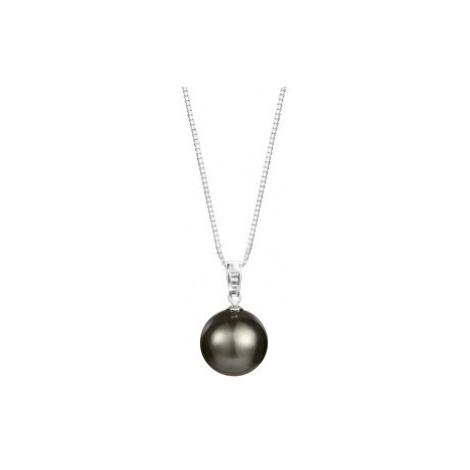 JwL Luxury Pearls Stříbrný náhrdelník s pravou mořskou tahitskou perlou JL0567 (řetízek, přívěse
