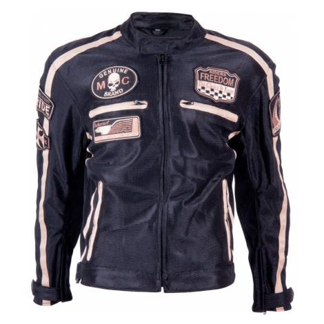 Letní Moto Bunda Bos 6488 Černá Černá