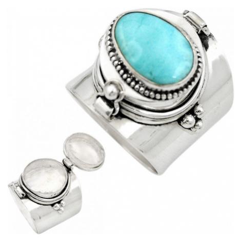 AutorskeSperky.com - Stříbrný jedový prsten s larimarem - S2274