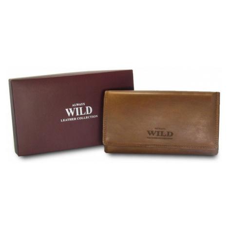 ALWAYS WILD peněženka dámská N20-CH TAN 16,5 x 9 x 3 cm