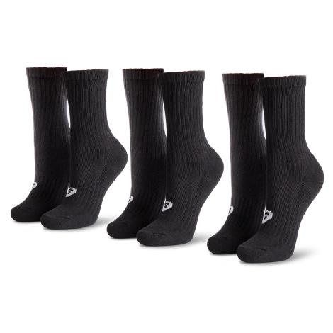 Sada 3 párů vysokých ponožek unisex ASICS - 3PPK Crew 155204 Black 0900