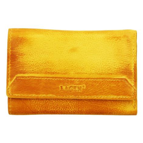 Dámská kožená peněženka Lagen Denisa - žlutá