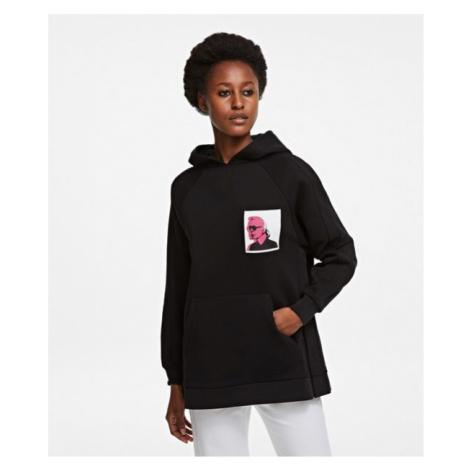 Mikina Karl Lagerfeld Karl Legend Print Hoodie - Černá