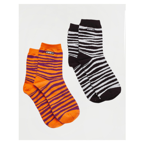 Obey Twinning Socks Black Combo