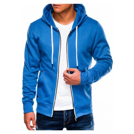 Ombre Clothing Trendy modrá pánská mikina na zip B977